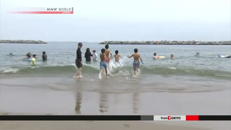 Fukushima beach opens for first time in 8 years