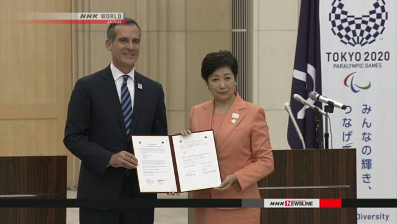 Tokyo, LA to cooperate as Olympics host cities