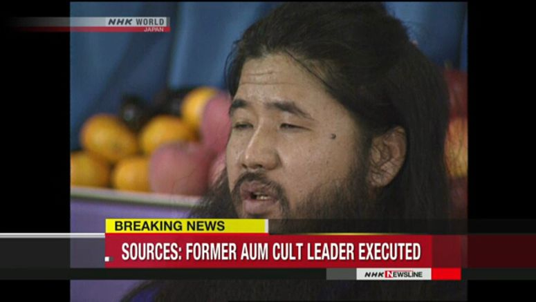 Sources:Former Aum Shinrikyo leader executed