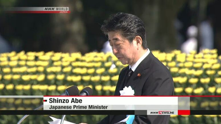 Abe: Japan vows to lead in nuclear arms ban effort