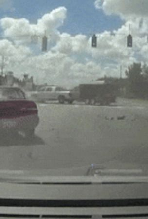 Ram Truck Goes Bonkers After A Toyota Rammed It At Intersection