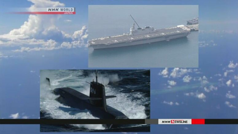 MSDF submarine conducts drill in S.China Sea