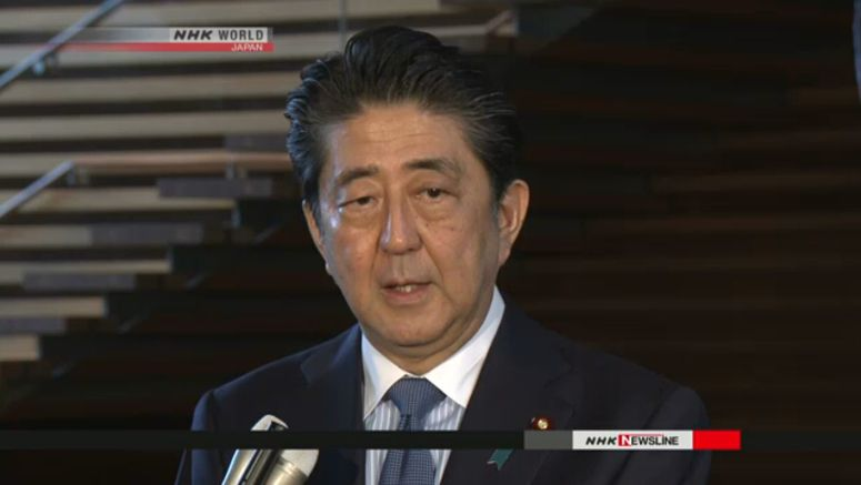 Abe hopes progress at inter-Korean summit