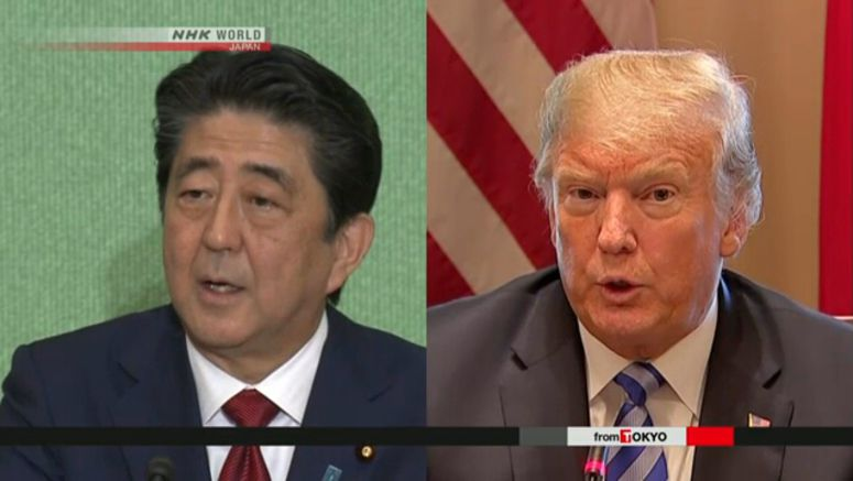 Abe-Trump summit underway in New York
