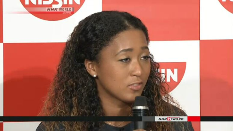 Grand Slam winner Naomi Osaka speaks in Japan