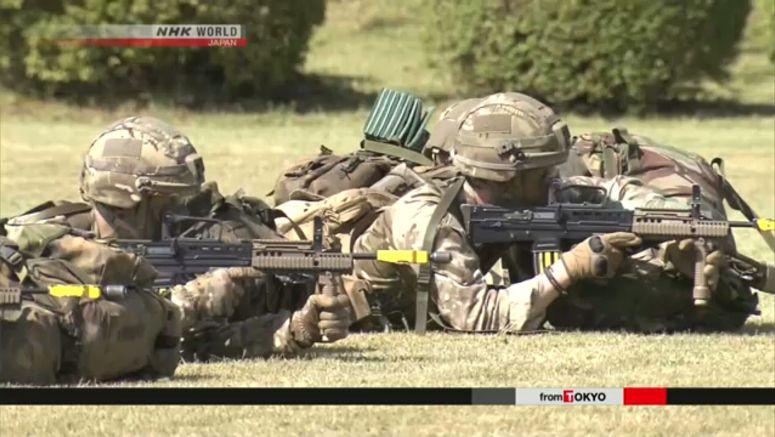 First Japan-British drill held near Mt. Fuji