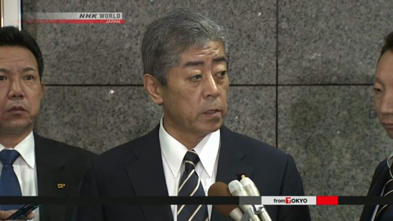 Minister to seek understanding on Okinawa base