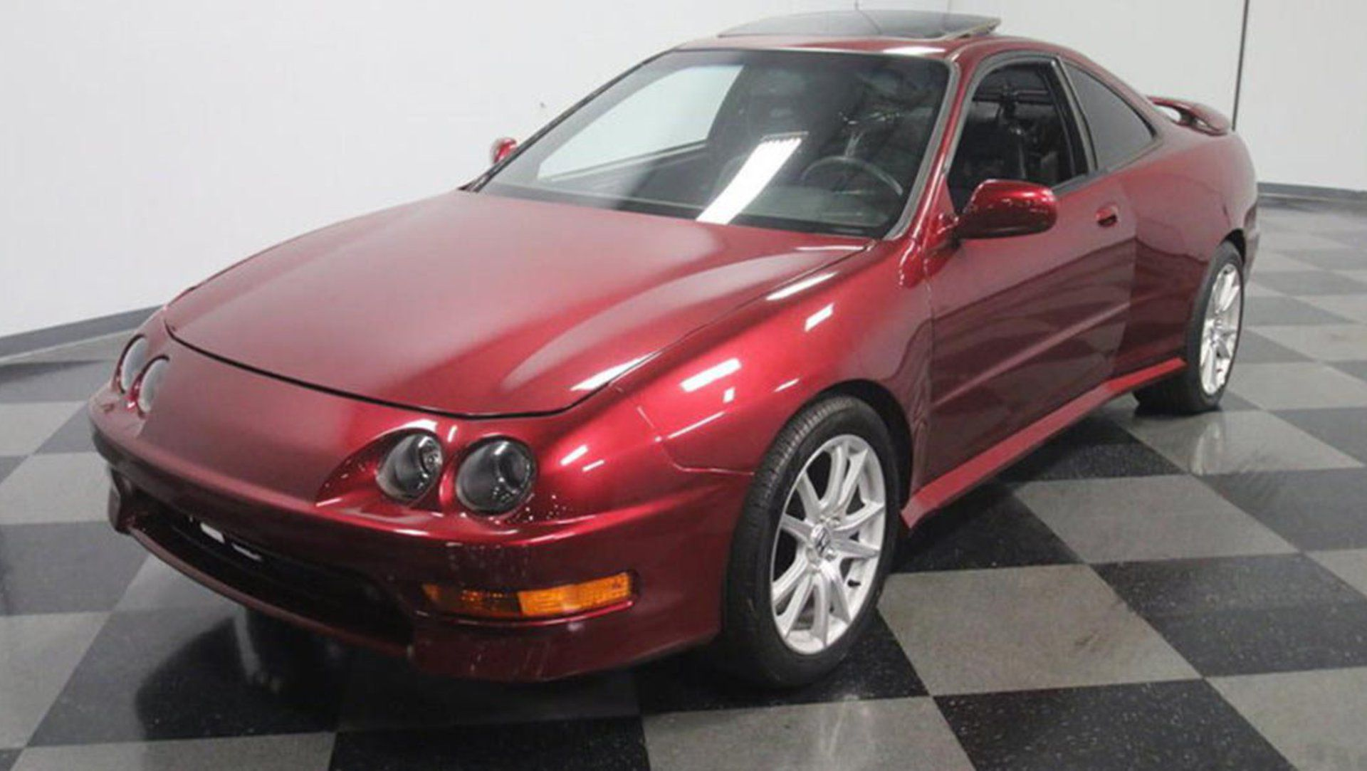 This Acura Integra Is Powered By A Mid Mounted Twin Turbo Caddy V8 Auto Moto Japan Bullet
