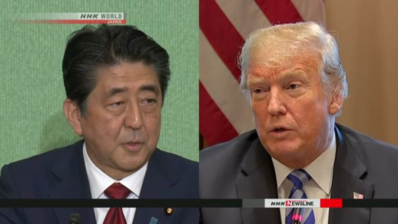 Abe, Trump hold phone conference