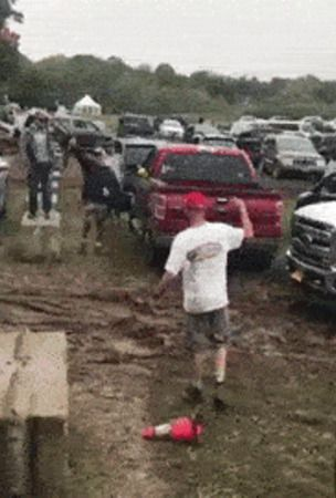 Subaru AWD For The Win: Impreza Pulls Out Ford F-350 Stuck In The Mud