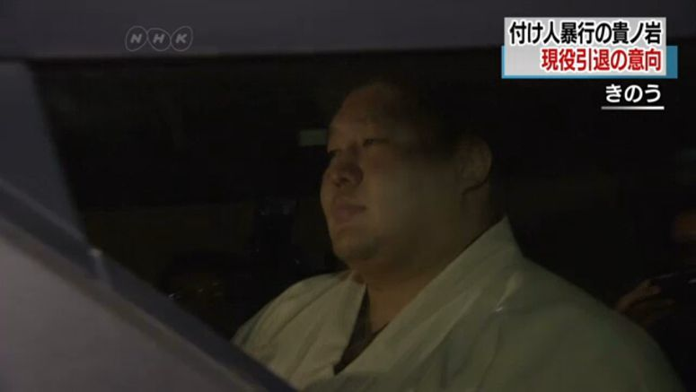 Sumo wrestler quits after admitting assault