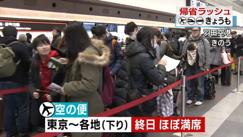 Holiday tourists pack planes and trains