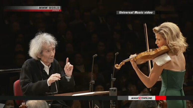 Seiji Ozawa conducts for 1st time in over a year