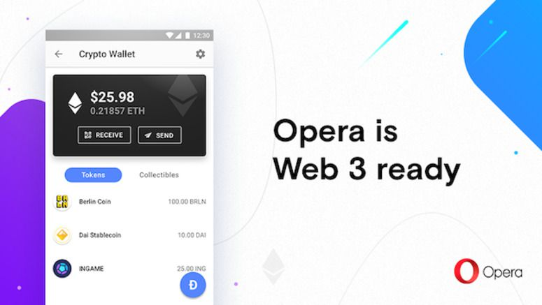 Opera For Android Now Has A Cryptocurrency Wallet