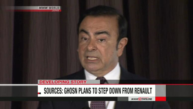 Sources: Ghosn plans to step down from Renault
