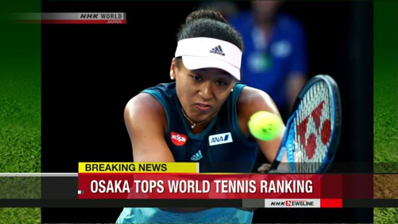 Naomi Osaka climbs to top of tennis rankings
