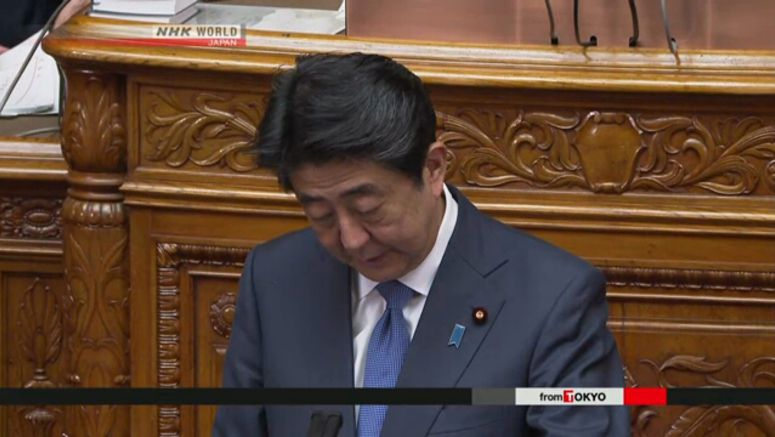 Abe apologizes for faulty government statistics