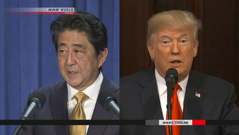 Abe to hold telephone summit with Trump