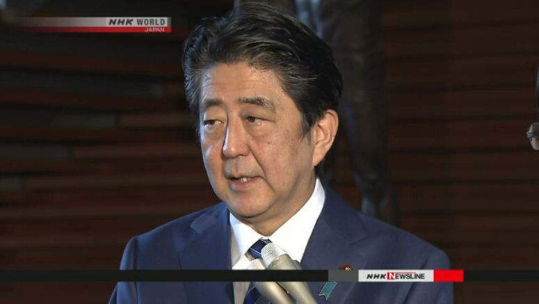 Abe wants apology for speaker's remark