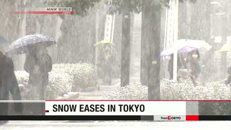 Threat of heavy snow eases in Tokyo
