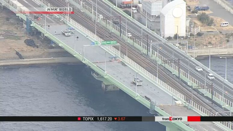Kansai Airport bridge to reopen ahead of schedule