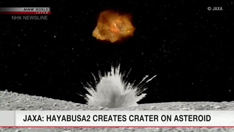 JAXA: Hayabusa2 likely succeeded in making crater