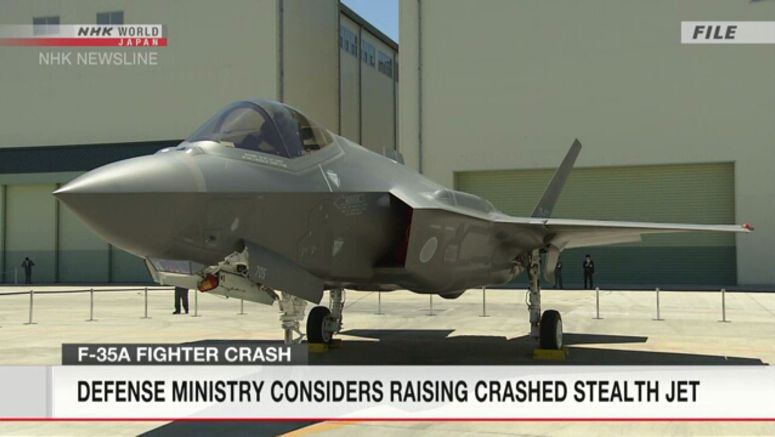 Defense Ministry plans to pull up crashed F35
