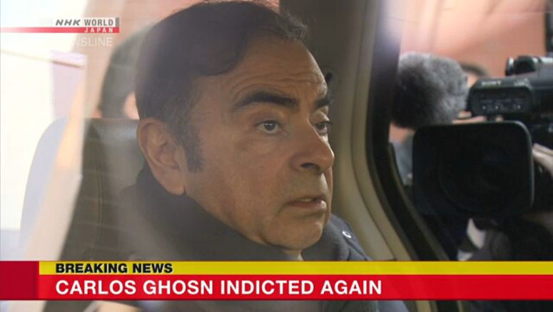 Carlos Ghosn indicted again