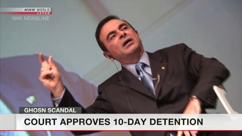 Court OK's Ghosn's detention afresh