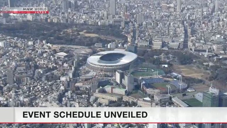 Tokyo Olympics schedule unveiled