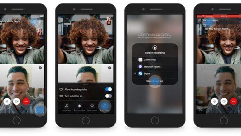 Skype For iOS And Android Now Offer Screen Sharing