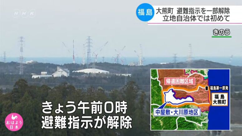 Fukushima town partially lifts evacuation order