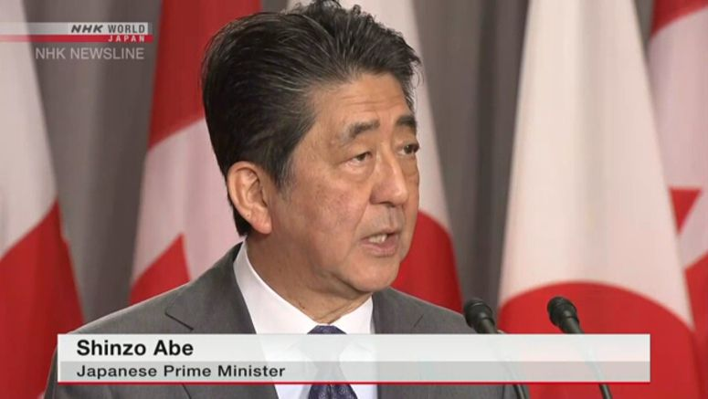 Abe expresses concern over Gulf situation