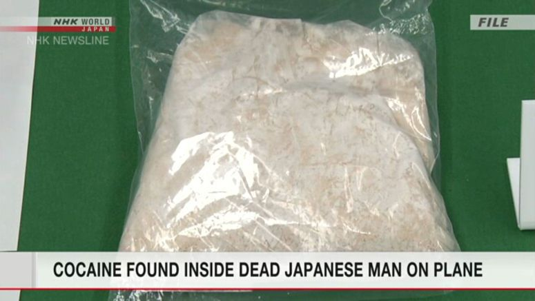 Cocaine found in dead Japanese man on plane