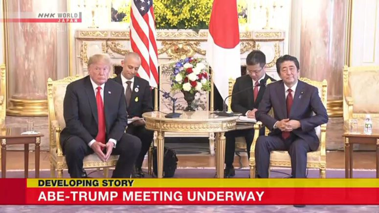 Abe-Trump meeting underway