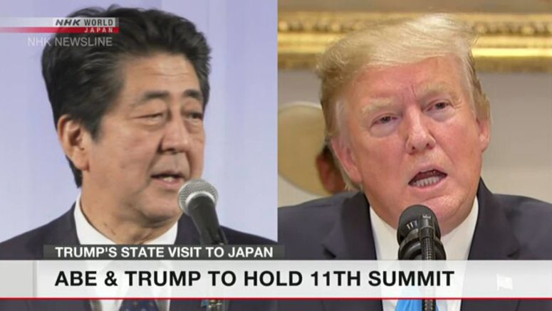 Abe, Trump to hold summit on Monday