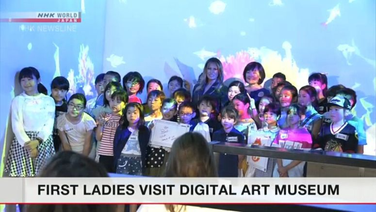 First Ladies enjoy digital arts