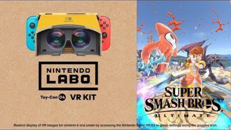 You Can Now Play Super Smash Bros. Ultimate With Nintendo Labo VR