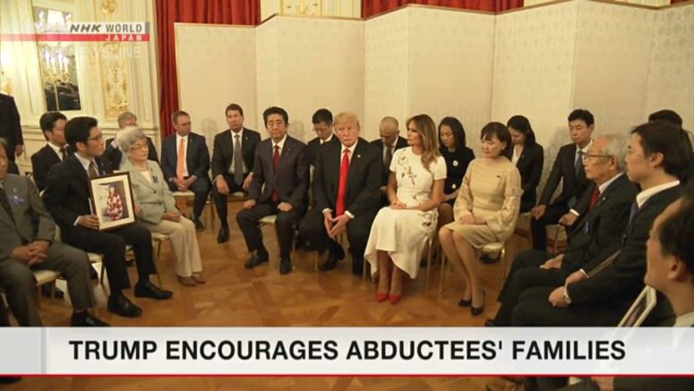 Trump expresses support to resolve abduction issue