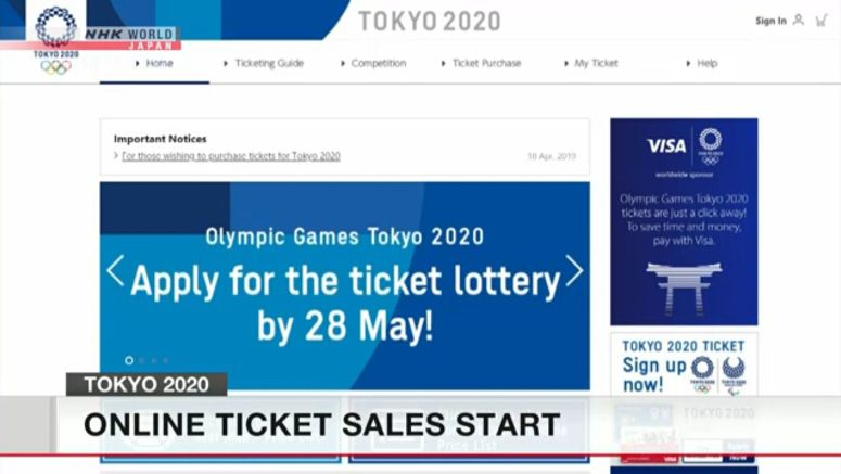 Applications for 2020 Olympics tickets begin