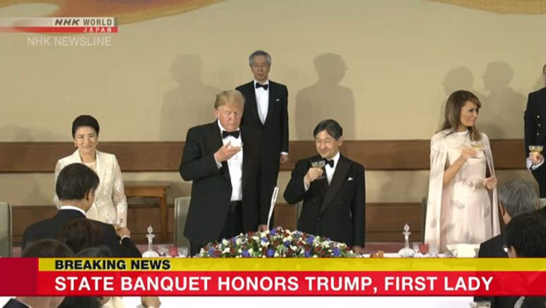 State banquet honors Trump, First Lady