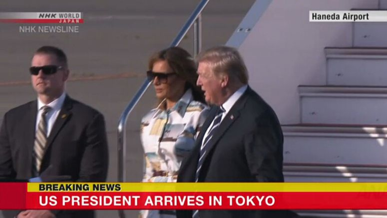 Trump arrives in Japan on state visit