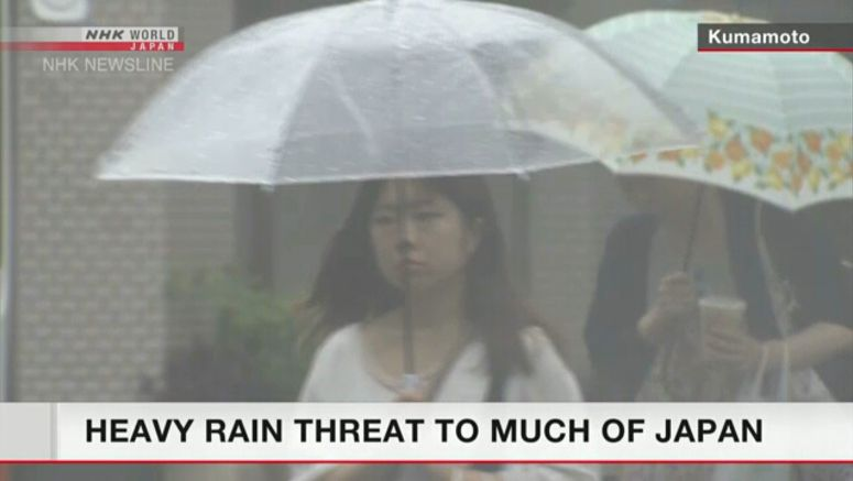 Continuing heavy rain threat to much of Japan