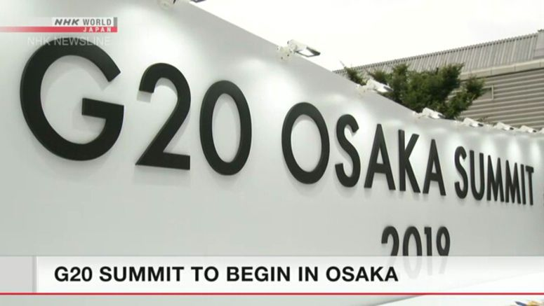 G20 summit to begin in Osaka