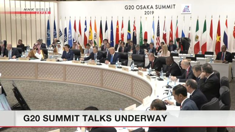 G20 summit talks underway in Osaka