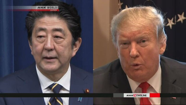 Abe talks with Trump ahead of Iran visit