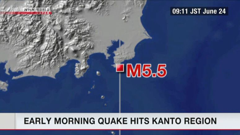 Morning quake hits Kanto region