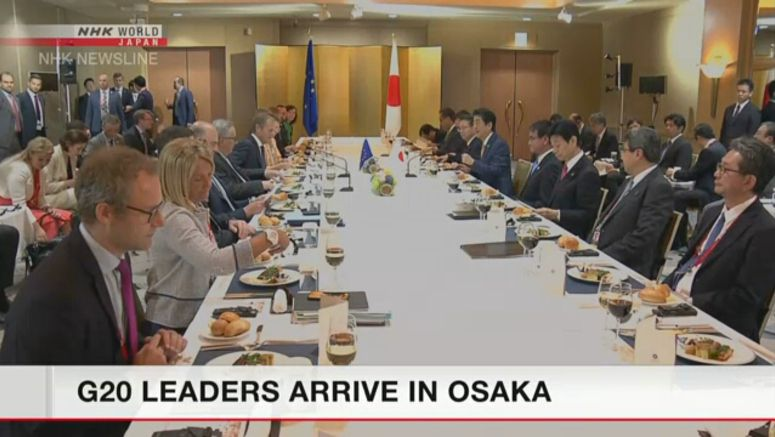 G20 leaders arrive in Osaka