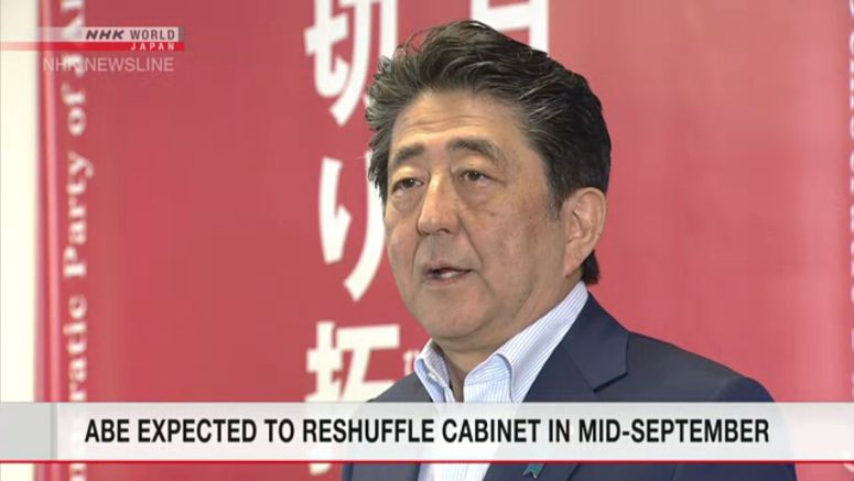 Abe likely to reshuffle Cabinet in mid-September