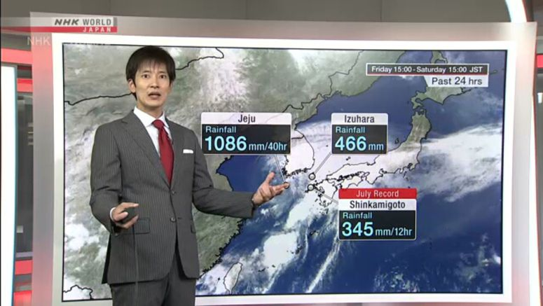 Analysis on rain in western Japan